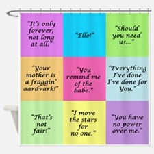 Labyrinth Quotes Shower Curtain