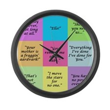 Labyrinth Quotes Large Wall Clock