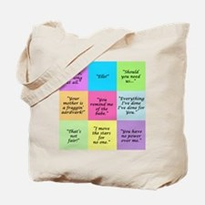 Labyrinth Quotes Tote Bag
