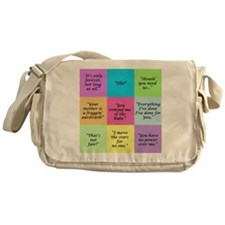 Labyrinth Quotes Messenger Bag