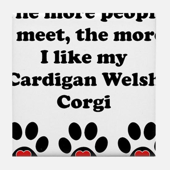 My Cardigan Welsh Corgi Tile Coaster
