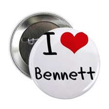 "I Love BENNETT 2.25"" Button"