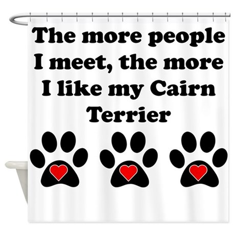 My Cairn Terrier Shower Curtain