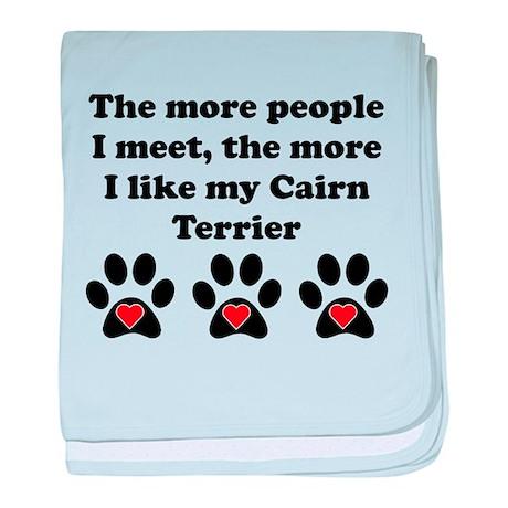 My Cairn Terrier baby blanket
