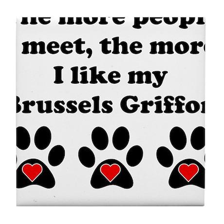 My Brussels Griffon Tile Coaster