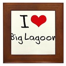 I Love BIG LAGOON Framed Tile