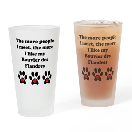 My Bouvier des Flandres Drinking Glass