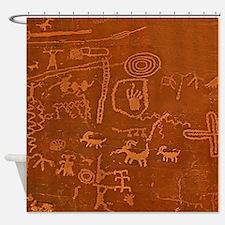 Mesa Verde Petroglyphs Shower Curtain