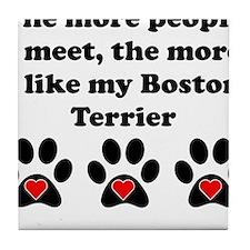 My Boston Terrier Tile Coaster