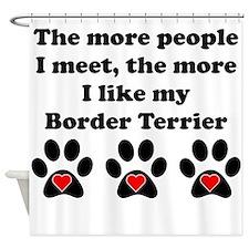 My Border Terrier Shower Curtain