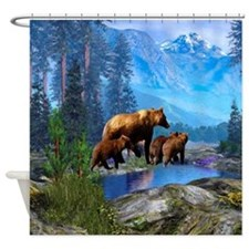 Mountain Grizzly Shower Curtain