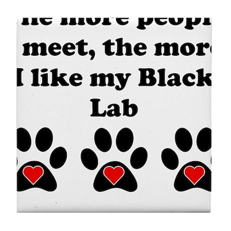 My Black Lab Tile Coaster