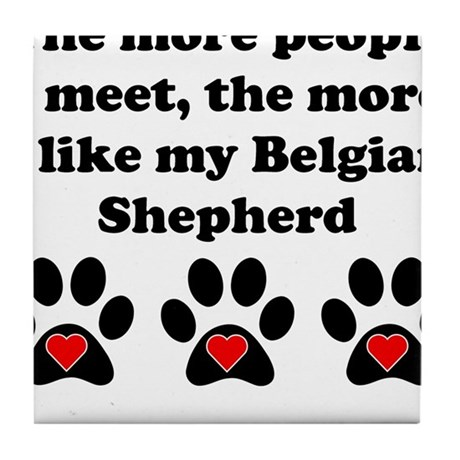 My Belgian Shepherd Tile Coaster