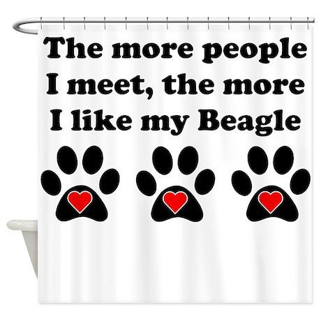 My Beagle Shower Curtain