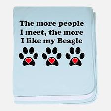 My Beagle baby blanket