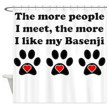 My Basenji Shower Curtain