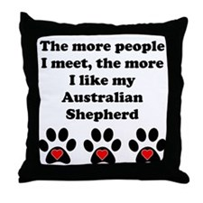 My Australian Shepherd Throw Pillow