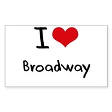 I Love BROADWAY Decal