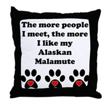 My Alaskan Malamute Throw Pillow