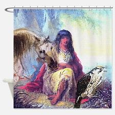 Hawk Woman Shower Curtain
