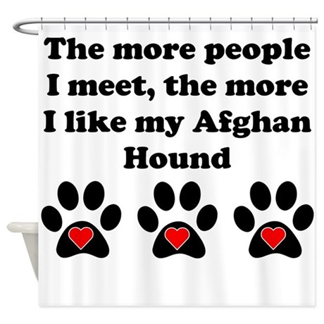 My Afghan Hound Shower Curtain