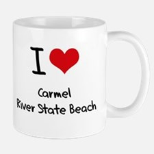 I Love CARMEL RIVER STATE BEACH Mug