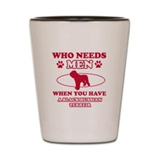Black Russian Terrier mommy designs Shot Glass