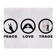 Financial Trader Throw Blanket