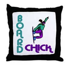 BoardChick II Throw Pillow