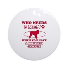 Brussels Griffon mommy designs Ornament (Round)