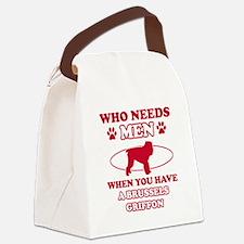 Brussels Griffon mommy designs Canvas Lunch Bag