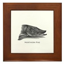 Northern Pike Logo Framed Tile