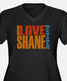 I Love Shane Women's Plus Size V-Neck Dark T-Shirt