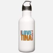 I Love Tina Water Bottle
