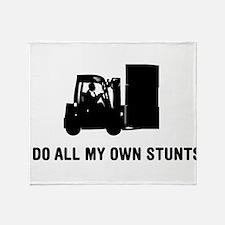 Forklift Operator Throw Blanket