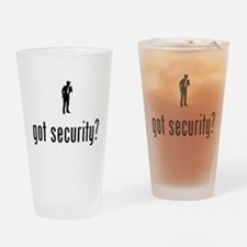 Security Guard Drinking Glass
