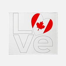 White Canadian LOVE Throw Blanket
