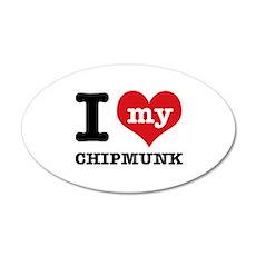 I love my Chipmunk Wall Decal