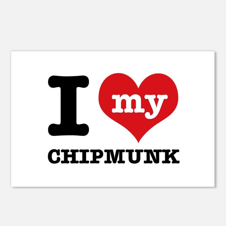 I love my Chipmunk Postcards (Package of 8)