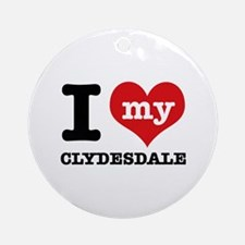 I love my Cyldesdale Ornament (Round)