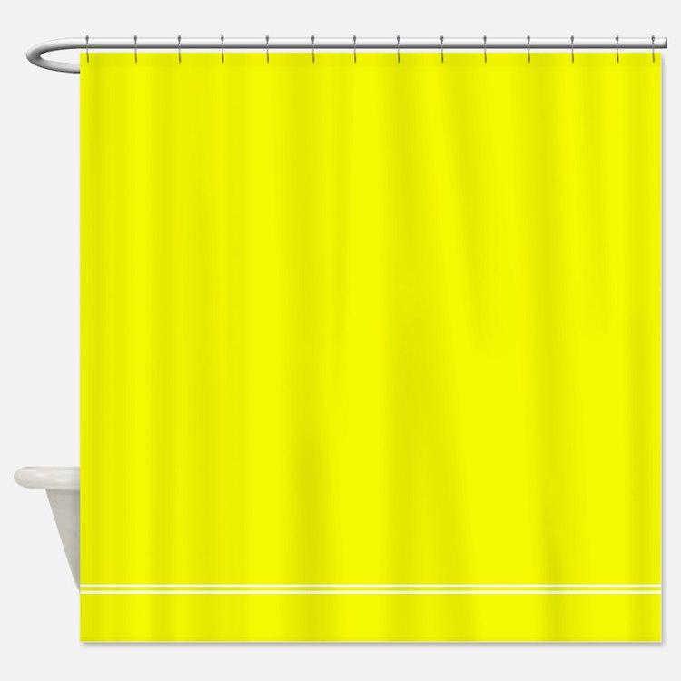 Neon yellow bathroom accessories decor cafepress for Bright yellow bathroom accessories