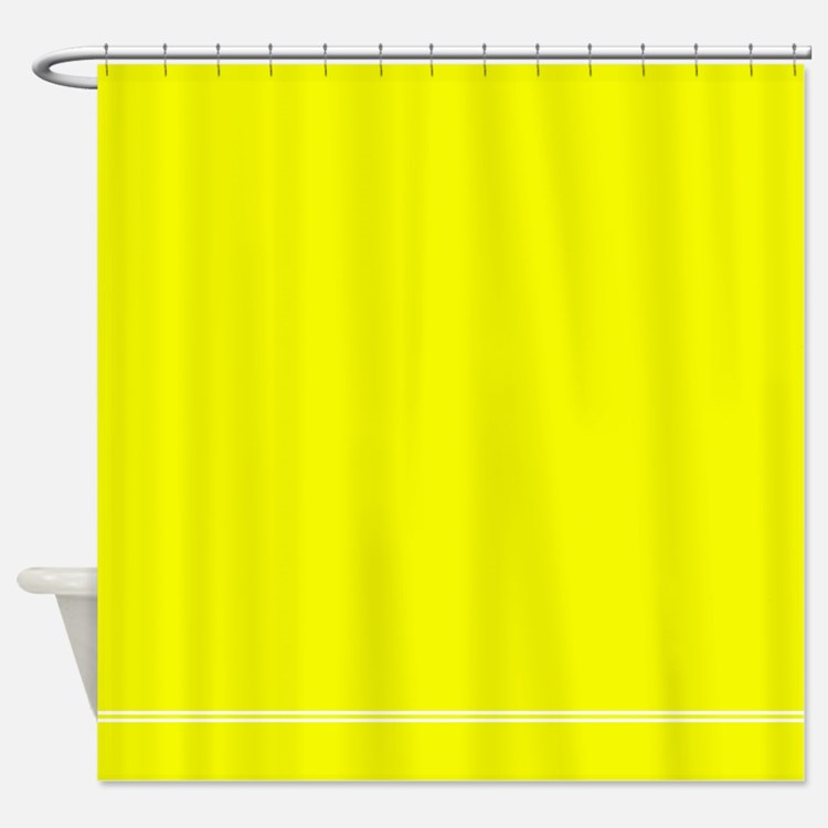 Neon Yellow Shower Curtains Neon Yellow Fabric Shower Curtain Liner