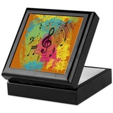 Bright Music notes on explosion of colour Keepsake