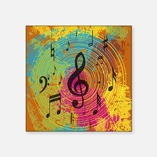 Bright Music notes on explosion of colour Sticker