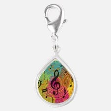 Bright Music notes on explosion of colour Charms