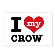 I love my Crow Postcards (Package of 8)