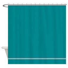 Teal Blue Shower Curtain