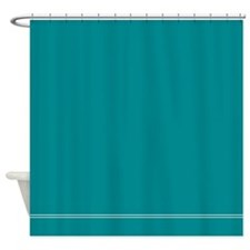 Teal Blue Shower Curtain For