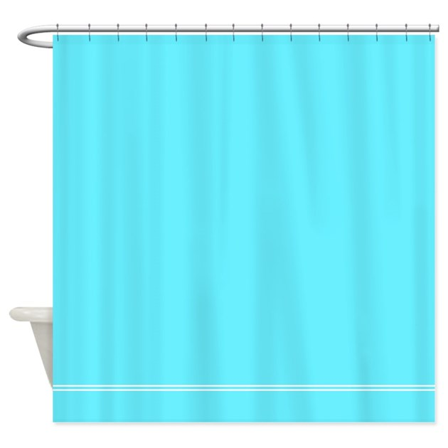 bright blue shower curtain by inspirationzstore