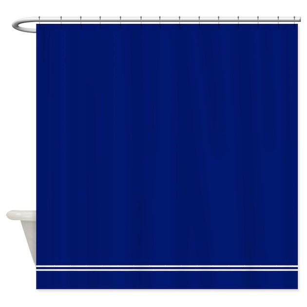 dark navy blue shower curtain by inspirationzstore. Black Bedroom Furniture Sets. Home Design Ideas